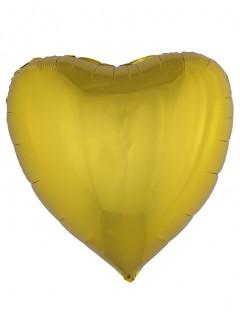 Folienballon Herz gold 76 cm