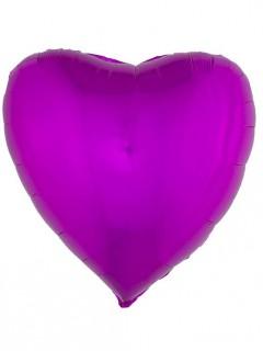 Herzförmiger Folienballon 76 cm pink