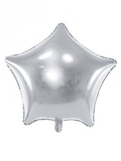 Stern Folienballon silber 45 cm