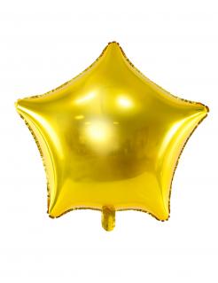 Folienballon Stern gold 45 cm