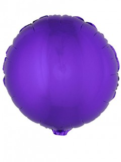 Runder Folienballon 45 cm violett