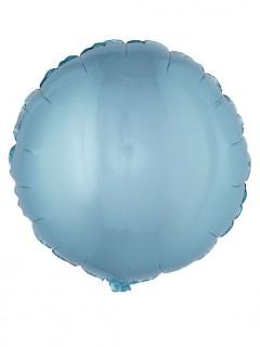 Runder Folienballon 45 cm türkis