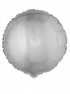 Runder Folienluftballon silber 45cm