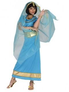 Orient-Prinzessin - Damenkostüm - Hellblau mit Gold