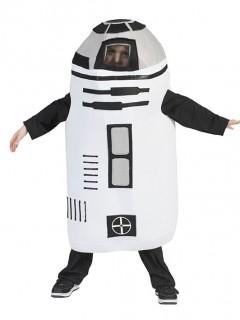 Kinderkostüm Roboter schwarz-weiss