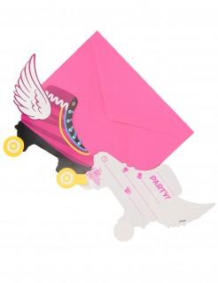 Soy Luna™ Einladungskarten Geburtstagskarten 6 Stück pink-bunt