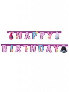 Trolls Happy Birthday Girlande Party-Deko bunt 190cm