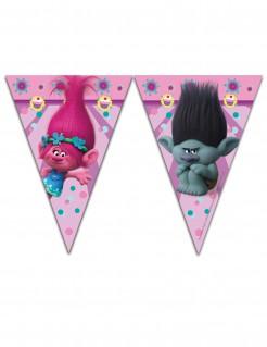 Trolls Wimpel-Girlande Party-Deko Lizenzartikel bunt 230cm