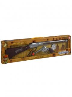 Cowboy Accessoire-Set Western braun-silber