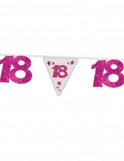Glitzernde Girlande 18. Geburtstag rosa