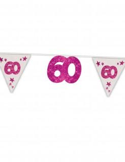 60. Geburtstag Girlande Party-Deko pink 6m