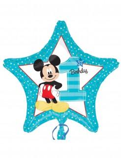 Mickey™ Folien Ballon 1 Jahr 1.-Geburtstag-Deko blau-bunt
