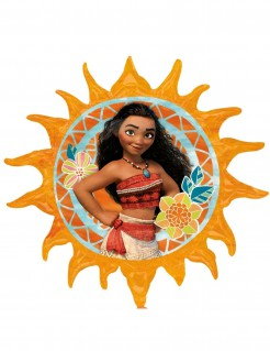 Sonnenförmiger Vaiana™ Luftballon Disney™ Lizenzartikel Partydeko bunt 71cm