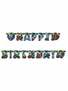 Geburtstags-Girlande Blaze und die Monstermaschinen™ 182 cm