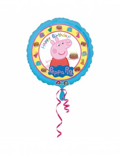 Peppa Wutz Happy Birthday Folien-Luftballon bunt 43cm
