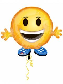 Emoticon Folien-Luftballon bunt 53cm