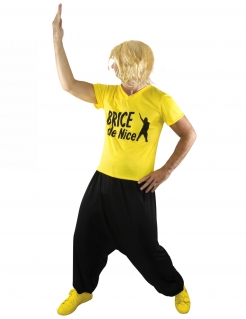Offizielles Brice de Nice™ Surfer Erwachsenenkostüm gelb-schwarz
