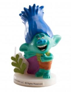 Trolls Geburtstagskerze türkis-bunt 7,5cm