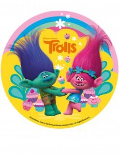 Trolls™ Kuchenoblate Tortendeko Lizenzware bunt 16cm
