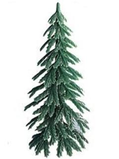 Tannenbaum Weihnachts-Deko für Kuchen grün 7cm