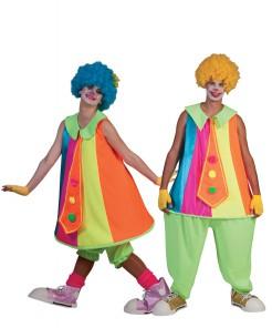 Clowns-Paarkostüm Karneval bunt
