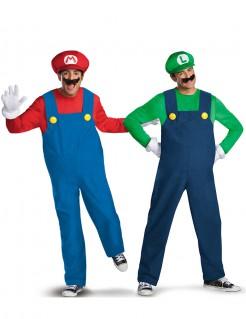 Videospiel-Paarkostüm Mario™ und Luigi blau-rot-grün