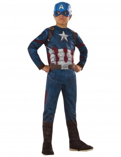 Captain America aus Avengers - Kinderkostüm blau