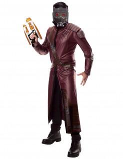 Star Lord™-Herrenkostüm Superheld burgund-schwarz