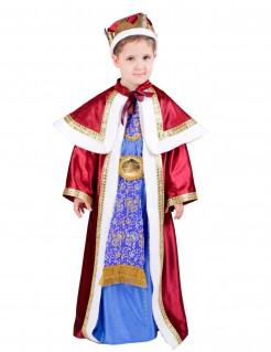 Melchior Kinderkostüm Heilige Drei Könige Weihnachten rot-blau-gold