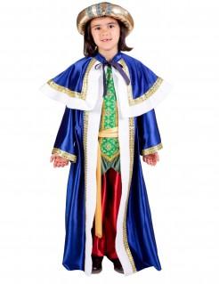 Balthasar Kinderkostüm Heilige Drei Könige Weihnachten blau-weiss-gold