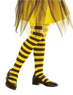 Ringel-Strumpfhose Kinder Biene schwarz-gelb