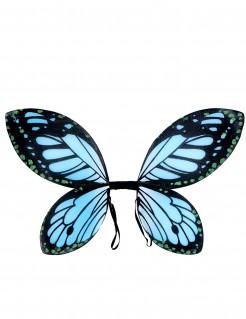 Schmetterlings-Flügel für Kinder schwarz-blau 40x50cm