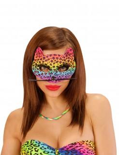 Regenbogen Leopard-Augenmaske bunt