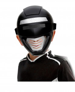 Roboter-Kindermaske Kostümzubehör schwarz-silber