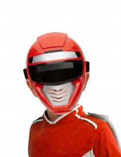 Roboter-Superheldenmaske für Kinder rot-schwarz-silber