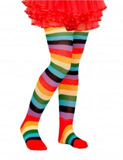 Regenbogen Ringelstrumpfhose für Kinder bunt