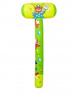 Aufblasbarer Clown-Hammer bunt 96cm