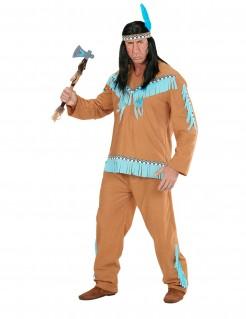 Wilder Indianer Kostüm Western braun-blau