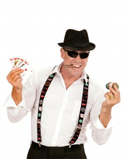 Poker Hosenträger schwarz-bunt