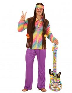 Psychedelischer Hippie-Kostüm 60er-Jahre bunt