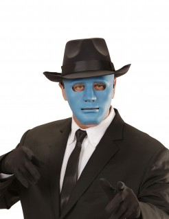 Karneval Gesichtsmaske blau