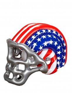 Aufblasbarer Football-Helm für Kinder USA rot-weiss-blau