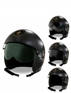 Jet-Piloten Helm schwarz
