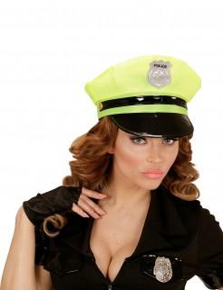 Party Polizei-Mütze neongelb-schwarz