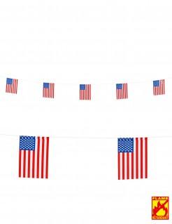USA Wimpel-Girlande Party-Deko weiss-rot-blau 6m