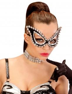 Venezianische Damenmaske schwarz