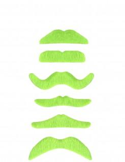 Knalliger Bart Moustache neongrün