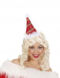 Süsser Weihnachts-Hut grün-rot-gold