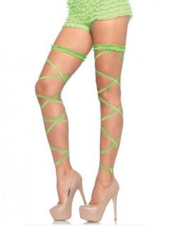 Verführerische Strumpfbänder zum Binden grün