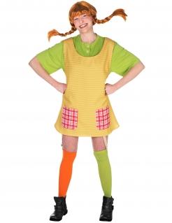 Pippi Langstrumpf Damenkostüm Lizenzware bunt